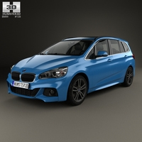 BMW 2 Series Gran Tourer (F46) M Sport Package 2015 3D Model