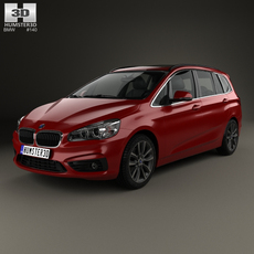 BMW 2 Series Gran Tourer (F46) Sport Line 2015 3D Model
