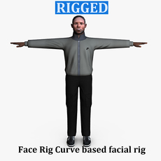 Casual Male 04 Rigged for Maya 3D Model