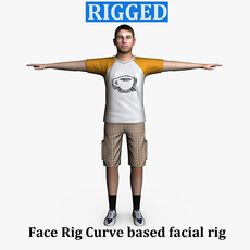 Casual Male 05 Rigged for Maya 3D Model