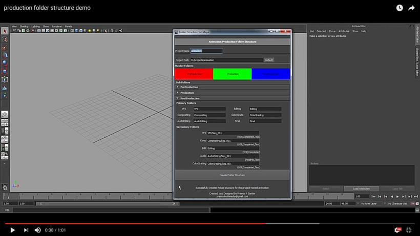 Folder Management for Animation Production pipeline for Maya