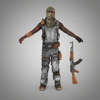 Somali pirate (Terrorist) 3D Model