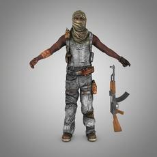 Somali pirate (Terrorist) 3D Model