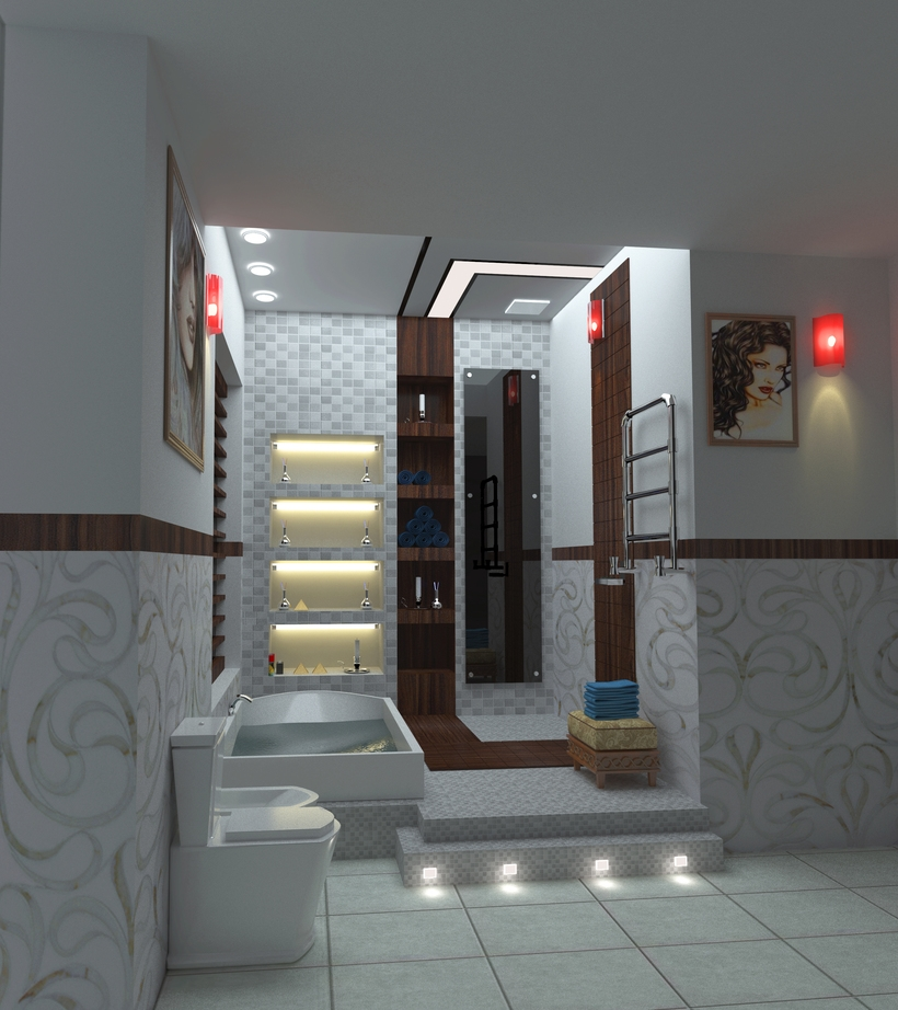 Interior Bathroom Design 3d Model