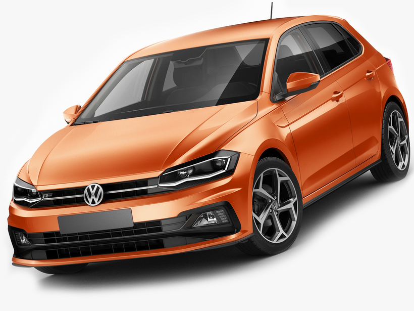 volkswagen polo 2018 r line 3d model. Black Bedroom Furniture Sets. Home Design Ideas
