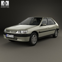 Peugeot 306 5-door hatchback 1993 3D Model