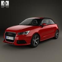 Audi A1 3-door 2015 3D Model