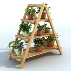 Plant with stand 3D Model