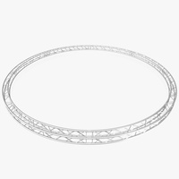 Circle Square Truss (Full diameter 800cm) 3D Model