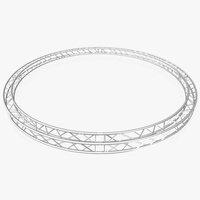 Circle Square Truss (Full diameter 600cm) 3D Model