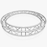 Circle Square Truss (Full diameter 300cm) 3D Model