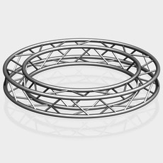Circle Square Truss (Full diameter 200cm) 3D Model