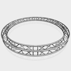 Circle Square Truss (Full diameter 400cm) 3D Model
