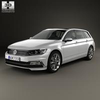 Volkswagen Passat (B8) R-Line 2015 3D Model