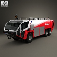 Oshkosh Striker 3000 Fire Truck 2010 3D Model