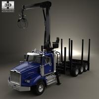 Western Star 4900 Logging Truck 2008 3D Model