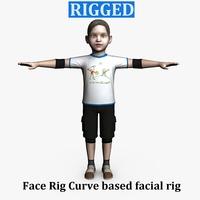 Child Male 01 3D Model