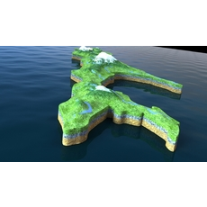 Island Sakhalin 3D Model