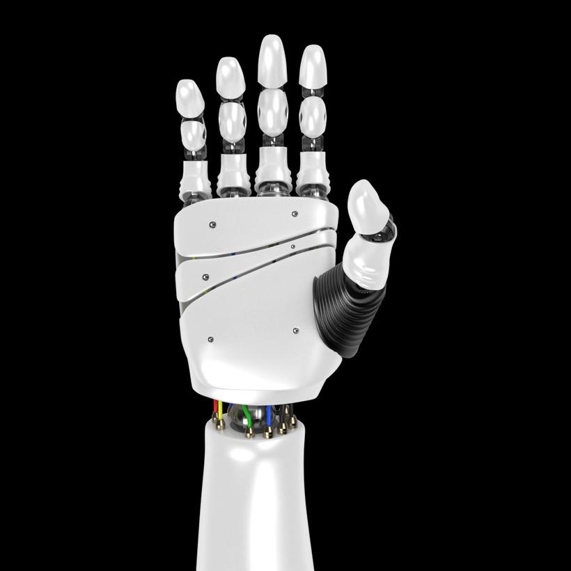 Robot Hand rigged 3D Model