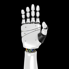 Robot Hand rigged 3D Model