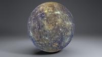 Mercury 8k Globe 3D Model