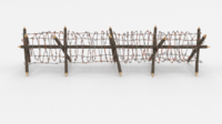 Barb Wire Obstacle 12 3D Model