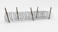 Barb Wire Obstacle 15 3D Model
