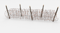 Barb Wire Obstacle 16 3D Model
