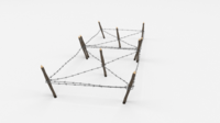 Barb Wire Obstacle 17 3D Model