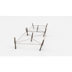 Barb Wire Obstacle 18 3D Model
