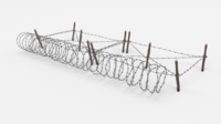 Barb Wire Obstacle 19 3D Model