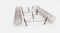 Barb Wire Obstacle 22 3D Model