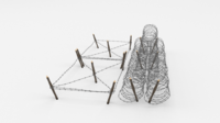 Barb Wire Obstacle 23 3D Model