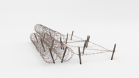 Barb Wire Obstacle 24 3D Model