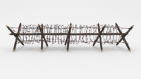 Low Poly Barb Wire Obstacle 12 3D Model