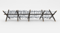 Low Poly Barb Wire Obstacle 11 3D Model