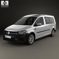 Volkswagen Caddy Maxi Trendline 2015 3D Model