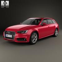 Audi A4 S-Line (B9) avant 2016 3D Model