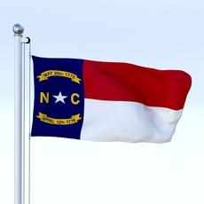 Animated North Carolina Flag 3D Model