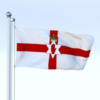 Animated Northern Ireland Flag 3D Model