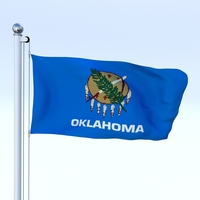 Animated Oklahoma Flag 3D Model