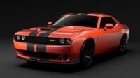 Dodge Challenger SRT Hellcat Go Mangoo 2017 3D Model