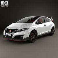 Honda Civic Type-R hatchback 2015 3D Model