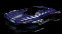 Hover car H3 3D Model