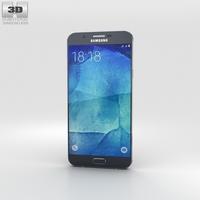 Samsung Galaxy A8 Midnight Black 3D Model