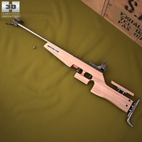 1827F ANSCHUTZ Biathlon rifle 3D Model