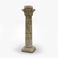 Ancient egyptian column 3D Model