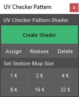 UV Checker Pattern 1.0.0 for Maya (maya script)