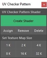 UV Checker Pattern 1.0.0 for Maya (maya script)
