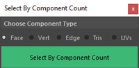 Free Select By Component Count for Maya 1.0.0 (maya script)
